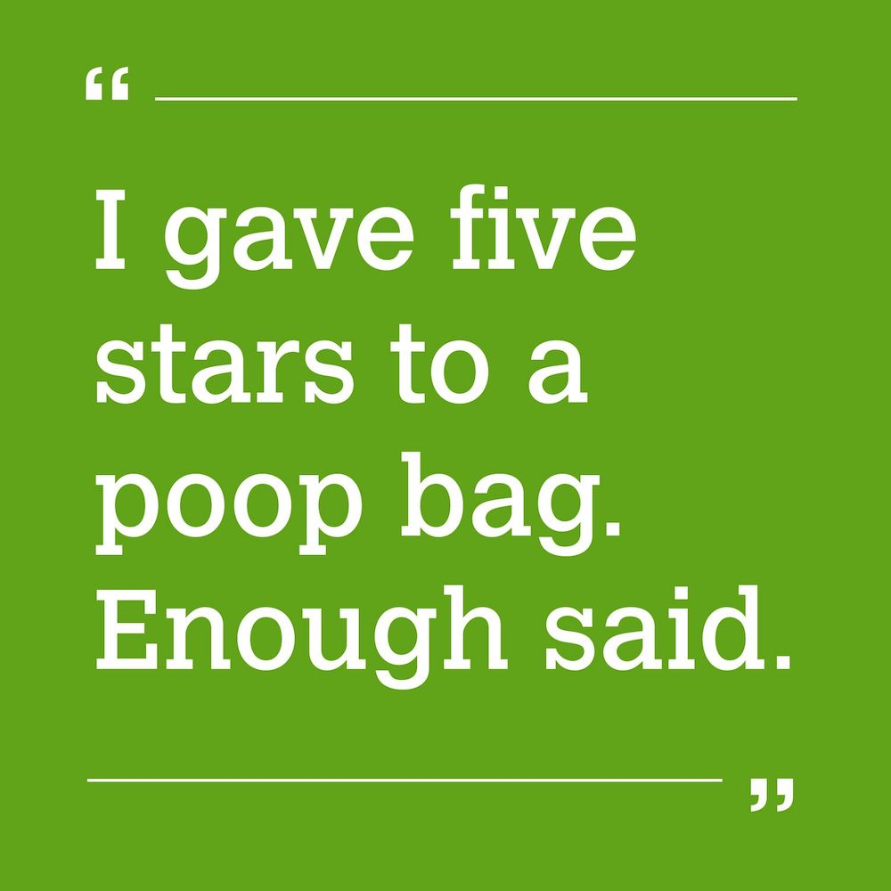 10 times a poop bag review cracked us up