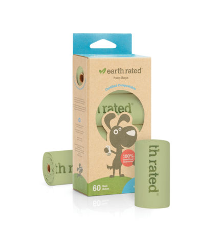 60 Certified Compostable Bags on 4 Refill Rolls