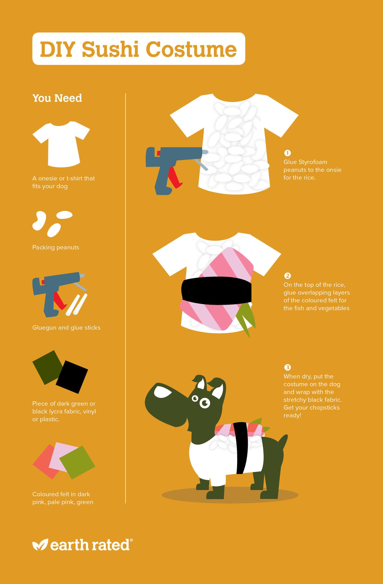 DIY Sushi Costume for Dogs Infographic
