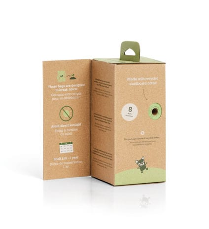 120 Certified Compostable Bags on 8 Refill Rolls